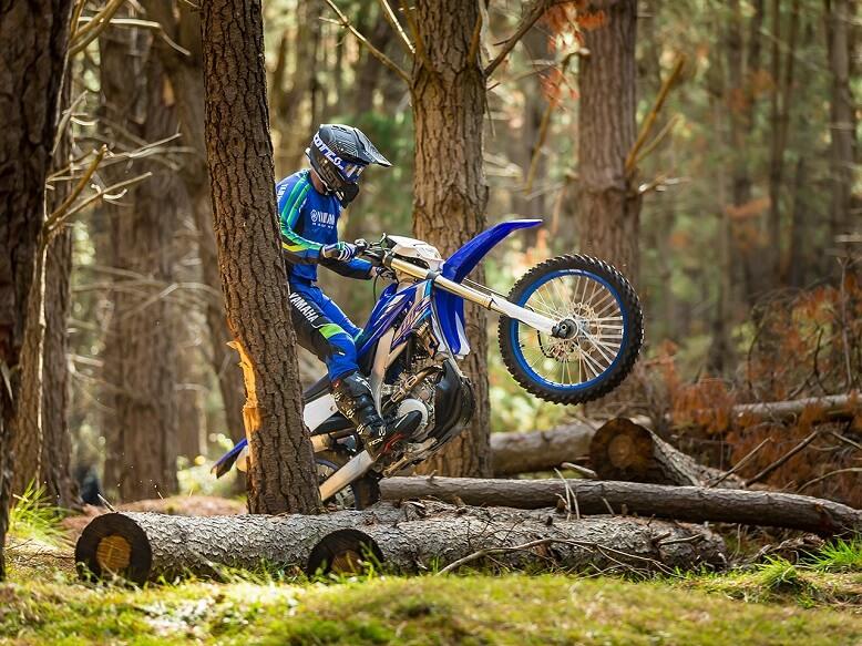 2020_Yamaha WR250F прыжок через бревно