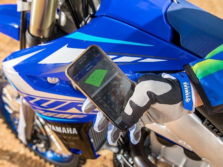 2020_Yamaha WR250F управление байка со смартфона