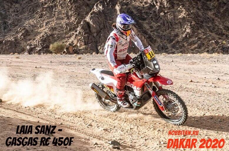 Laia Sanz на Dakar 2020