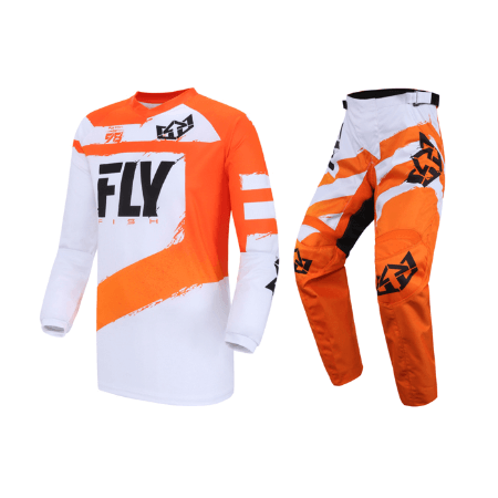 Оранжевый джерси для мотокросса Fly