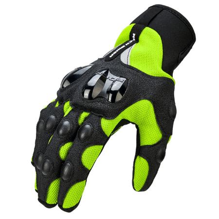 Зеленые перчатки для мотокросса