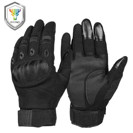 Черные перчатки для мотокросса Ozero